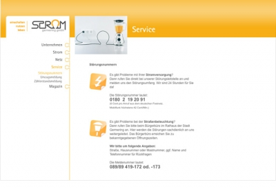 Strom Germering Website